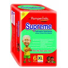 SUPREME Popok Dewasa size XL isi 6pcs (PAKET ISI 4)