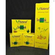 Temulawak V Natural BPOM - Paket Krim Temulawak (Cream Siang Malam, Sabun Dan Toner