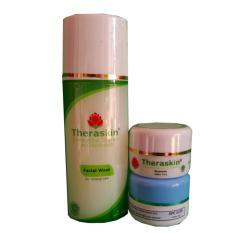 Theraskin Paket Acne Theraskin Facial Wash, Cream Acne Siang dan Cream Acne Malam - 3 Pcs