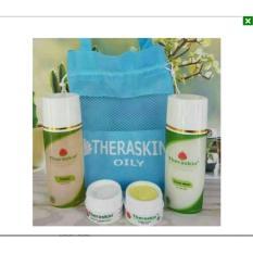 Theraskin Paket Oily (kulit berminyak) BPOM, MUI Original -1 Paket