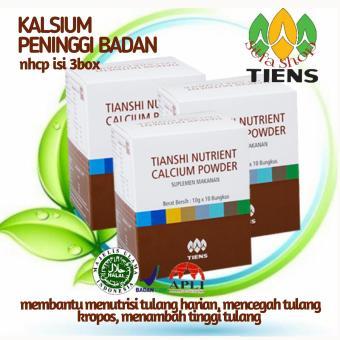 Tiens peninggi badan dan kalsium tulang 3box nutrient high calsium powder by silfa shop tiens