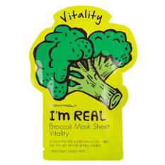 Tony Moly I`m REAL Broccoli Mask Package Sheet Vitality Original Korea-10pcs