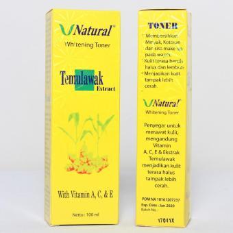 V Natural Temulawak Extract Whitening Toner Original BPOM