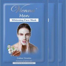 Vienna Men Whitening Face Mask - Cotton & Licorice (3pcs)