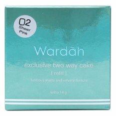 Wardah Refill Exclusive Two Way Cake 02 Sheer Pink - Paket 2Pcs