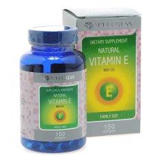 Wellness Natural Vitamin E-400 I.U - 150 Softgel
