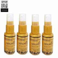 Whitening Serum Gold Original - Serum Pemutih Wajah - 4 Botol