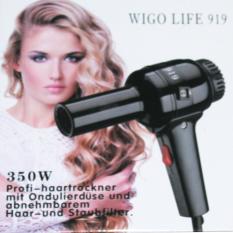 Wigo 919 Hair Dryer Pengering Rambut 350 W - hitam