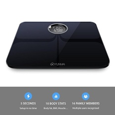 YUNMAI Premium Version Smart Scale Body Fat Weighting Digital Scale Body Composition Monitor BT4.0 with Extra Large Display Free APP for Android 4.3 iOS 8.0 Smartphones - intl