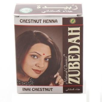 Kehebatan Zubedah Henna Herbal Inai Pewarna Rambut Chestnut 6 Pcs