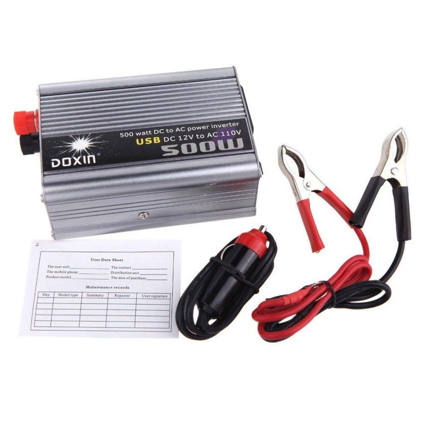 500W Watt DC 12V DC 24V  AC 220V + AC 110V + USB Portable Voltage Transformer Car Power Inverter (Intl)