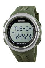 50M Waterproof Outdoor Digital SKMEI 1058 Heart Rate Monitor Pedometer Sport Watch (Green) - Intl
