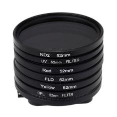 6 In 1 52mm ND2 Lens Filter + UV Lens Filter + Red Filter + FLD Filter + Yellow Filter + CPL Filter + Filter Adapter Ring For GoPro HERO4.3 +