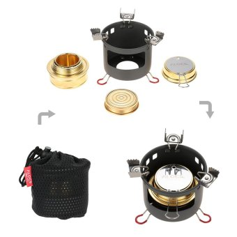 ALOCS Camping Outdoor Spirit Alcohol Burner Camping Stove Alcohol Stove Bracket Support Set - intl