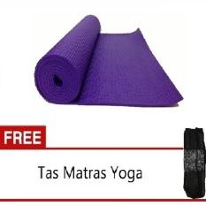 Anekaimportdotcom Matras Yoga - Ungu + Gratis Tas