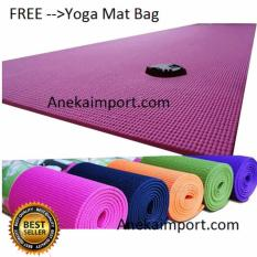 Anekaimportdotcom Matras Yoga - Yoga Mat - Pilates Mat - 6mm Pink + Gratis Yoga Bag
