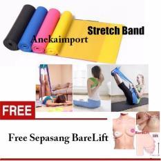 Anekaimportdotcom Yoga Pilates Resistance Band / Tali Yoga Resistance Band 2M - Kuning