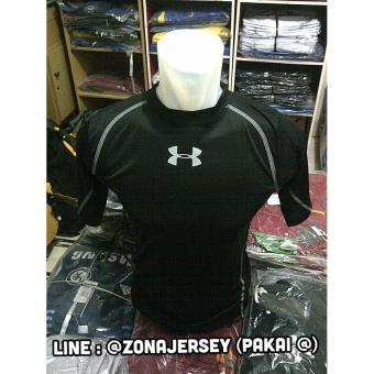 Pakaian Baju Olahraga Pria Lazada co id Source · Baselayer Manset Under  Armour Cold Gear Black bdc22cd605