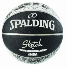 BOLA BASKET SPALDING SKETCH NBA SIZE 7 RUBBER BASKETBALL 2017
