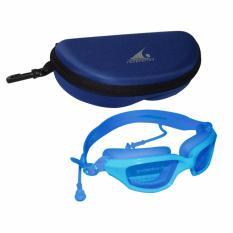 EELIC KAR-588 BIRU Kacamata Renang Dengan Penutup Telinga
