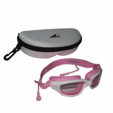 EELIC KAR-588 PUTIH-PINK Kacamata Renang Dengan Penutup Telinga