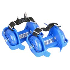Flashing Roller Skate With 3 Flashing Light Biru