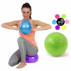 Hanyu Purple 25cm Diameter Small Yoga Ball Pilates Massage Ball Thicker Explosion-proof Inflatable Bodyball Fitness Ball Slimming Equipment - intl