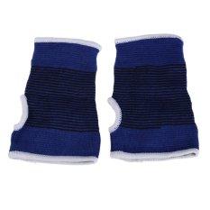 Hot Protect Palm Wrist Hand Support Glove Elastic Brace Sleeve Sports Bandage Gym Wrap Palm protection Blue