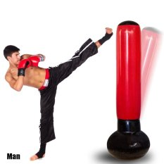 Inflatable Boxing Tower With Pump Speed Balls Training Punching Bag - intl