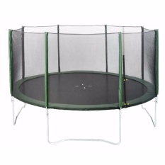 JYSK TRAMPOLINE WITH SAFETY NET STOJ D426xH270CM GREEN
