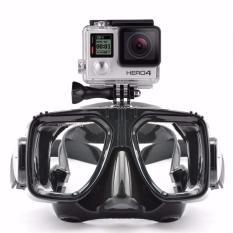 Kacamata Renang Diving Snorkling With Tripod Mount Sport Cam Xiaomi Yi Kogan SJCAM GoPro 3 4 5 Waetrsports Mask