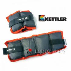 KETTLER Foot band 2x 2.5 Kg ( 5 Kg / Pair ) Pemberat Pasir Kaki Engkel Sand Weight Ankle Wrist Bands 0922