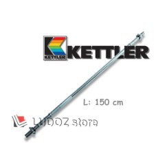 KETTLER stick Straight bar / Lurus, 150Cm / 60inch , Diameter stik Chrome barbell 3cm -0883