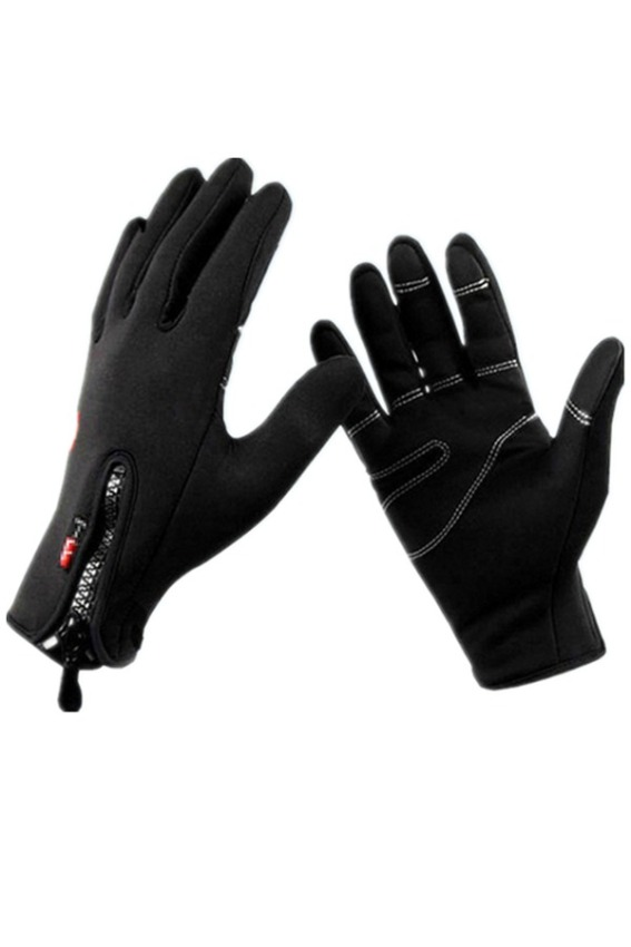 Lalang Windproof Cycling Riding Slip-Proof Gloves (Black)
