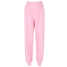 LALANG Women Sports Yoga Pants Bloomers Harem Trousers Stretch Pink