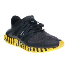 League Kumo  Racer Cros Bar M Sepatu Lari - Hitam-Lemon Chrome-Met. Silver