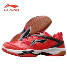 Li-Ning Badminton Shoes Champion - Merah/Hitam
