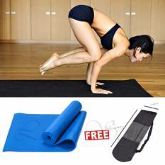 Lucky Matras Yoga / Yoga Mat 61x173cm - Biru + Gratis Tas Yoga - 1 Pcs