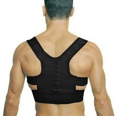 Makiyo Adjustable magnetic posture support corrector back pain brace belt(M) - intl