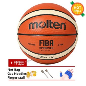 Molten GG7X Indoor Outdoor PU Leather Basketball Official Size 7Basketball Ball PU Match Training Equipment GG7X - intl