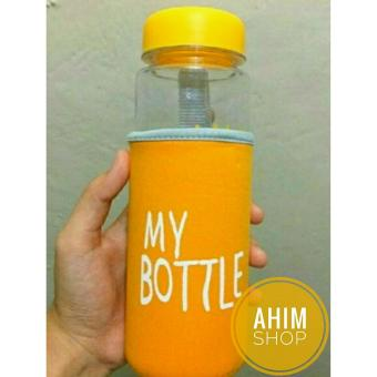 My Bottle CLEAR 545 ml + POUCH Botol Minum Infused Water - KUNING