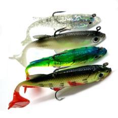 PAlight 4 buah baru datang 8 cm 14 G umpan lembut kepala timah pancing umpan ikan