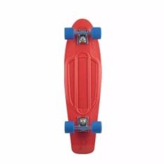 Pennyboard Fishboard Pu Led Wheels - Merah