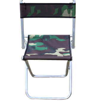 Portable Outdoor Camouflage Metal Folding Backrest Beach ChairFishing Chair for Camping Hiking Picnic BBQ