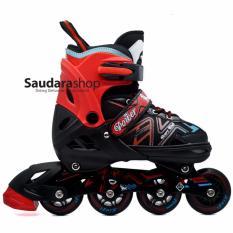 Power King Sepatu Roda Inline Skate Merah Sepaturoda Inlineskate Full Karet Red