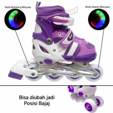 Power Sport Two-Stripes 5000 Aosite inLine Skate Sepatu Roda 2 in 1 Adjustable Wheel - L ( 38 - 42 )