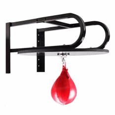 Red Boxing Pear Shape PU Speed Ball Punching Exercise Speedball Speed Bag Punch Fitness Training Ball - intl