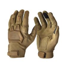 Sarung Tangan Laki-Laki Militer Taktis Tentara Paintball Airsoft Olahraga Luar Ruangan Tembakan Balap Finger Gloves Penuh Coklat (International)