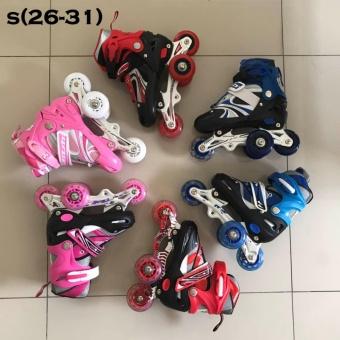 Powersport Boom Inline Skate Sepatu Roda Light Up Adjustable Wheel L ... 4876824c0e