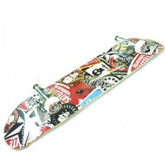 Silverfox Skateboard Canadian Maple Satellite Skull